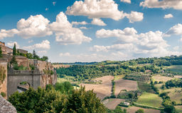 Orvieto Fields. View from The Walls of Orvieto Stock Photography