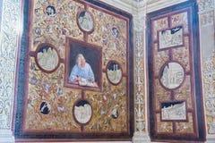 Frescos inside of Orvieto Cathedral, Italy stock photos