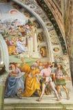 Frescos inside of Orvieto Cathedral, Italy stock photo
