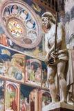 Interior of Orvieto Cathedral, Italy stock photo