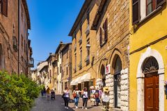 Orvieto, Italy - Panoramic view of Orvieto old town and Corso Ca Stock Photo