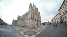 Orvieto katedra, miasteczko, budynek, średniowieczna architektura, niebo Zdjęcia Stock