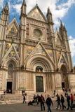 Orvieto-Kathedrale - Lazio Italien stockbilder