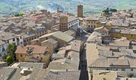Orvieto, Luftaufnahme stockfotografie