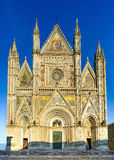 Orvieto medieval Duomo cathedral church facade. Italy Royalty Free Stock Photos
