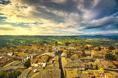 Orvieto medieval town aerial view. Italy Royalty Free Stock Images