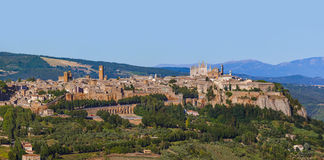Orvieto medieval town in Italy. Architecture background Royalty Free Stock Photography