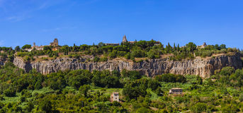 Orvieto medieval town in Italy. Architecture background Royalty Free Stock Photos