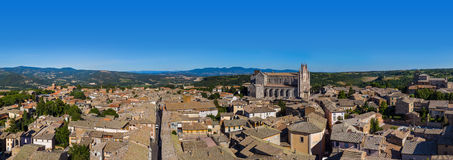 Orvieto medieval town in Italy. Architecture background Royalty Free Stock Photo