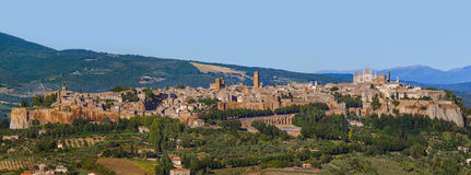 Orvieto medieval town in Italy. Architecture background Royalty Free Stock Images