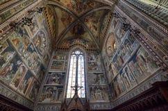 Orvieto, Ombrie, le 30 août 2015 La cathédrale d'Orvieto photographie stock