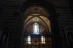 Orvieto, Umbria, August 30 2015. The cathedral of Orvieto stock photos