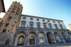 Orvieto, Umbria, il 30 agosto 2015 Della Repubblica della piazza Immagine Stock
