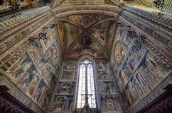 Orvieto, Umbria, il 30 agosto 2015 La cattedrale di Orvieto Fotografia Stock