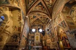 Orvieto, Umbria, il 30 agosto 2015 La cattedrale di Orvieto Immagini Stock