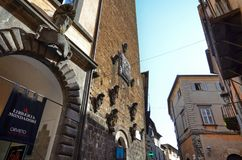 Orvieto, Umbria, 30 August 2015. The historic center royalty free stock image