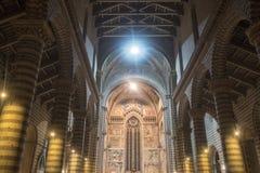 Orvieto Umbria, Włochy, wnętrze średniowieczna katedra, lub Zdjęcia Stock