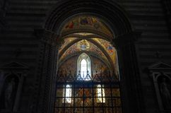 Orvieto, Umbrien, am 30. August 2015 Die Kathedrale von Orvieto stockfotos