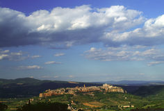 Orvieto, view of the city. An evening view of the town of Orvieto, Umbria, Italy Stock Images