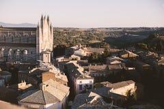 Orvietto stad i Italien, Lazio Fotografering för Bildbyråer