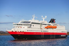 Orwegian passenger cruise ship MS Polarlys Royalty Free Stock Photo