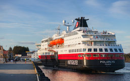 Orwegian passenger cruise ship MS Polarlys Royalty Free Stock Photo