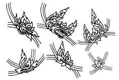 Oryginału kreskowy tajlandzki Fotografia Royalty Free