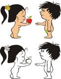 Oryginal sin - adam and eve Stock Image