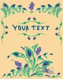Oryginalna colourful wiosny pocztówka Zdjęcia Royalty Free