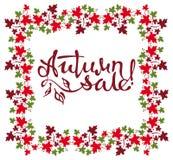 Oryginalna obyczajowa literowania ` jesieni sprzedaż! ` Obrazy Royalty Free