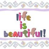 Oryginalna pisownia zwrota życie jest piękna Obraz Royalty Free