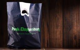 Oryginalnego zerknięcia & Cloppenburg klingerytu torba na zakupy Zdjęcia Stock