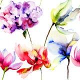 Oryginalni lato kwiaty Obrazy Stock