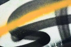 Oryginalny żółty czarny jaskrawy tło Makro- zakończenie ściana, malująca stara farba Obrazy Royalty Free