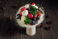 Oryginalny bukiet warzywa i owoc Zdjęcie Stock