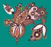 Oryginalny cyfrowy remis kreskowej sztuki ozdobny kwiat Obrazy Royalty Free