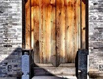 Oryginalny drewniany drzwi Zdjęcie Royalty Free