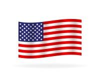 Oryginalny i prosty Zlany stan Ameryka flaga budowy ilustraci zapas pod wektorem royalty ilustracja