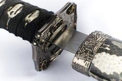 oryginalny japońskiego miecza samurajskiego Zdjęcie Royalty Free