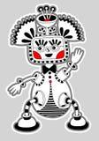 Oryginalny nowożytny śliczny ozdobny doodle fantazi potwór Zdjęcia Stock
