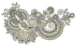 Oryginalny ręka remisu kreskowej sztuki kwiatu ozdobny projekt Zdjęcie Stock