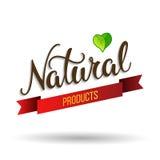Oryginalny ręki literowanie Naturalny i eco projekta elementy Obraz Royalty Free