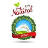 Oryginalny ręki literowanie Naturalny i eco projekta elementy Fotografia Stock
