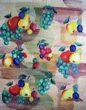 Oryginalny tekstylnej tkaniny ornament Kapcan jest ręcznie malowany Obraz Stock