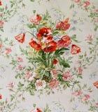 Oryginalny tekstylnej tkaniny ornament maczki Kapcan jest ręcznie malowany z guaszem Zdjęcia Royalty Free