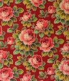 Oryginalny tekstylnej tkaniny ornament makata Kapcan jest ręcznie malowany z guaszem Zdjęcia Stock