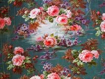 Oryginalny tekstylnej tkaniny ornament Nowożytny styl Kapcan jest ręcznie malowany z guaszem Zdjęcia Stock