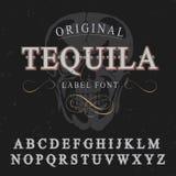 Oryginalny Tequila etykietki chrzcielnicy plakat Fotografia Royalty Free