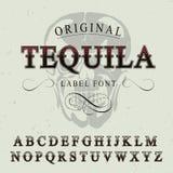 Oryginalny Tequila etykietki chrzcielnicy plakat Obrazy Royalty Free