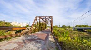 Oryginalny trasy 66 most od 1921 w Oklahoma OKLAHOMA, PAŹDZIERNIK - 24, 2017 - JENKS - Zdjęcie Stock